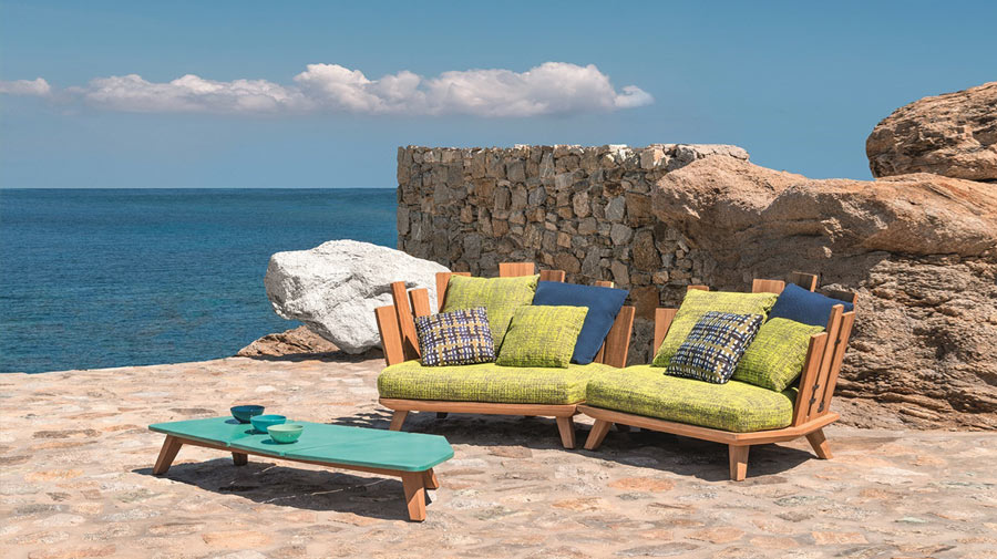 Rafael by Ethimo, a new outdoor seating series with an exotic taste