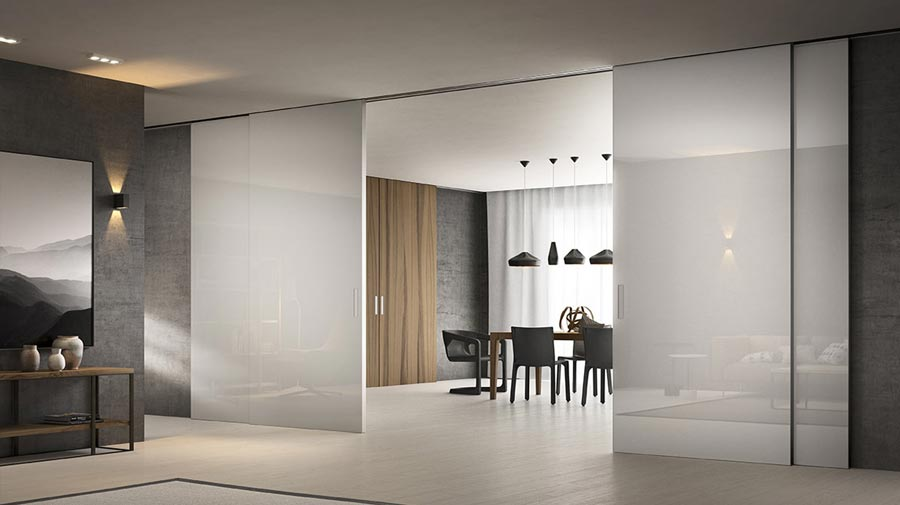 Premium by Ferrerolegno, the sliding door which opens like a curtain