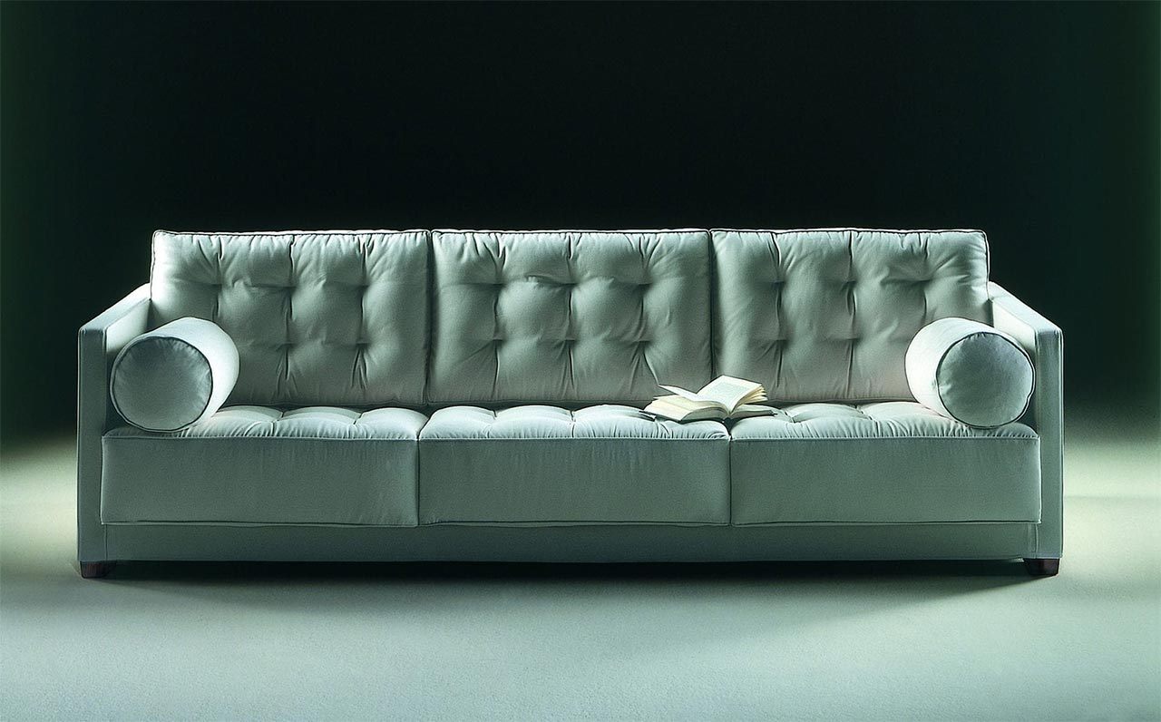 tufted sofa le canap by flexform images. Black Bedroom Furniture Sets. Home Design Ideas
