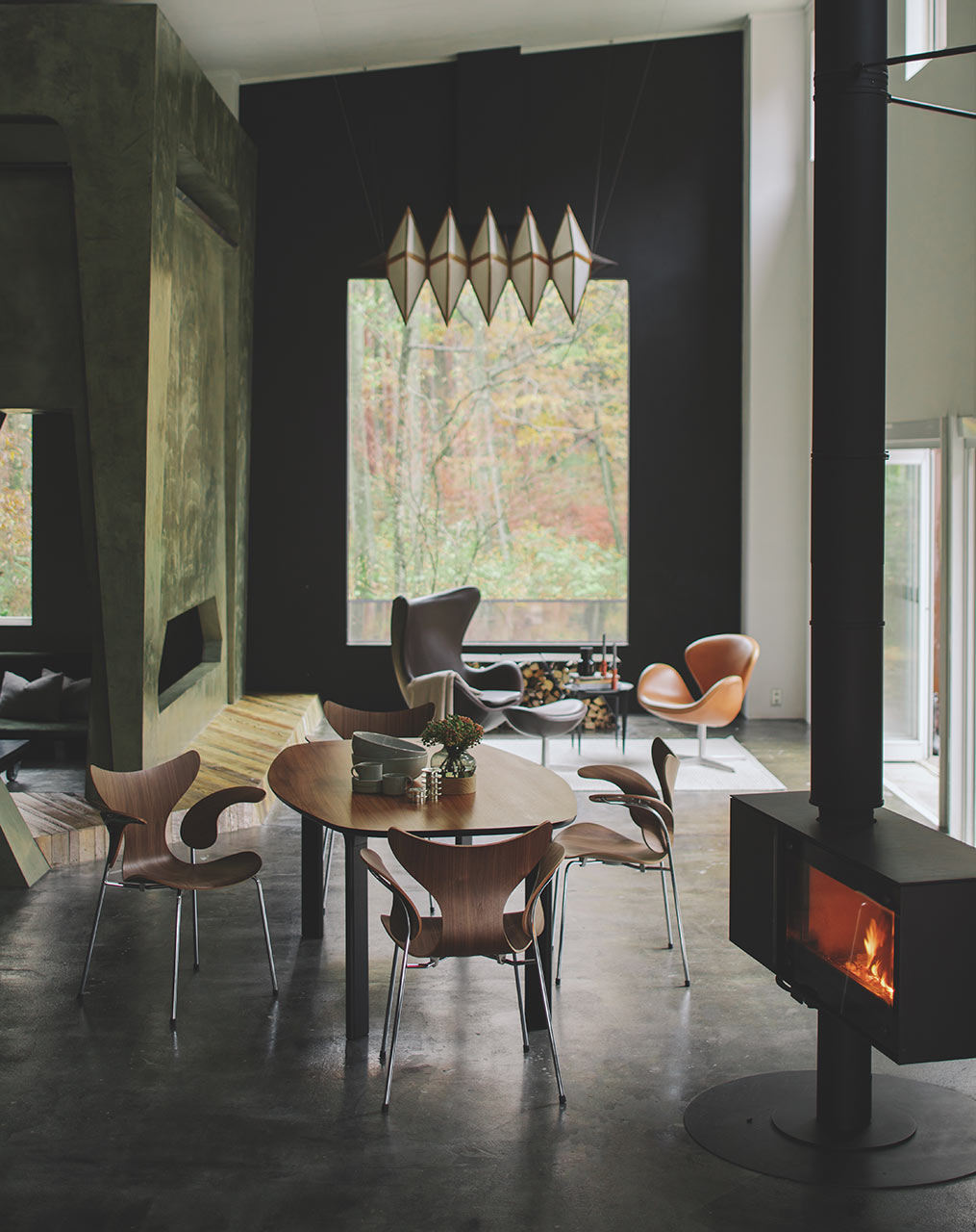 Fritz Hansen Lily chair, walnut