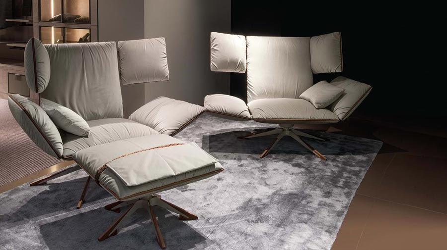 Sahara by Giorgetti, the all-relaxing armchair