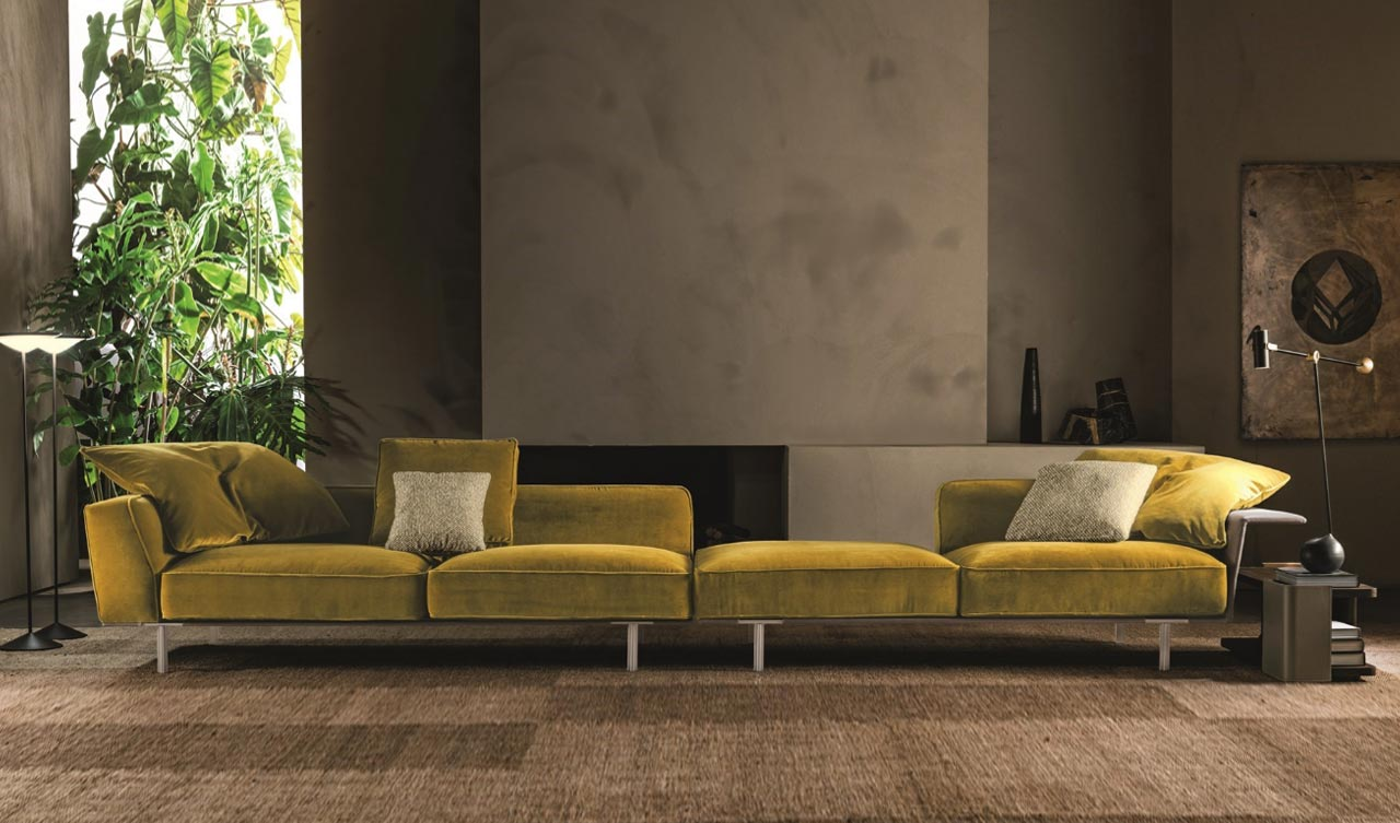 Gregor, Molteni&C.'s latest sofa: systemic lightness