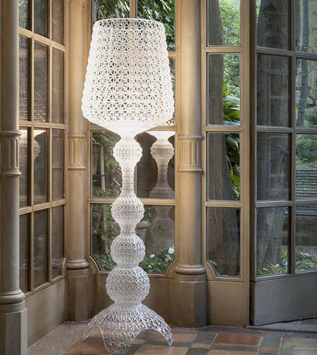 Kabuki by Kartell, the neo-baroque lamp