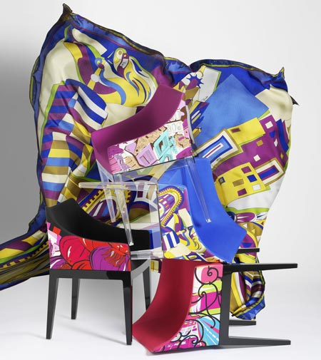 Madame Milano by Kartell, this limited edition armchair wears Pucci