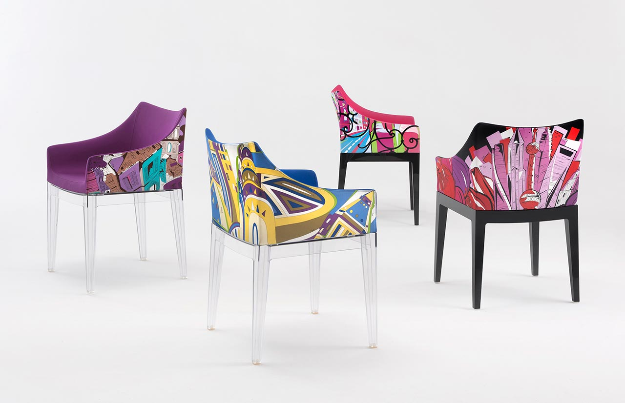 Kartell, poltroncina Madame – World of Emilio Pucci edition (Rome, New York, Paris, Shanghai)