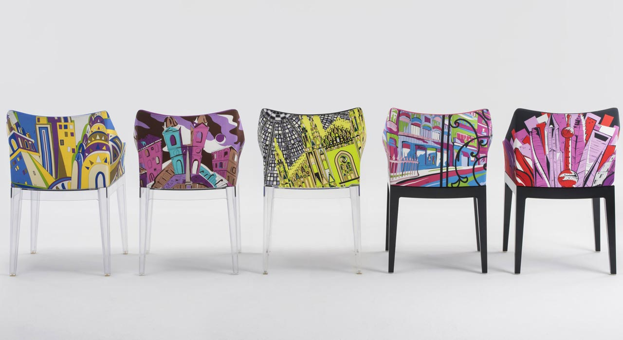 Kartell, poltroncina Madame – World of Emilio Pucci edition (New York, Rome, Milan, Paris, Shanghai)