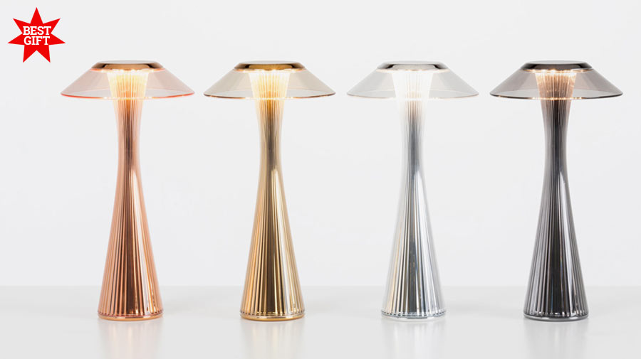 Space by Kartell, the Space Needle that lights up