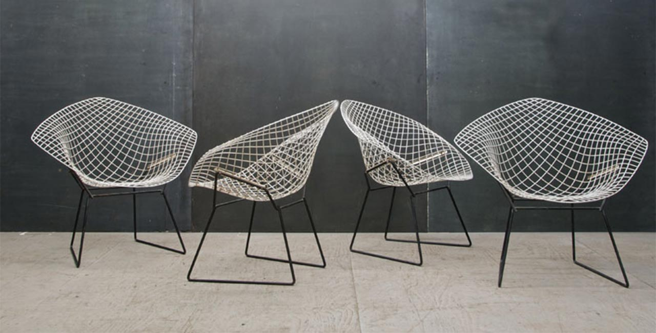 diamond chair the iconic chair by herry bertoia. Black Bedroom Furniture Sets. Home Design Ideas