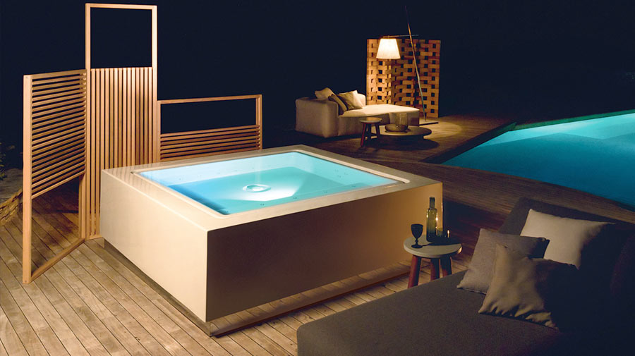 Quadrat Pool by Zucchetti.Kos, the hot tub winner of the 2016 Good Design Award
