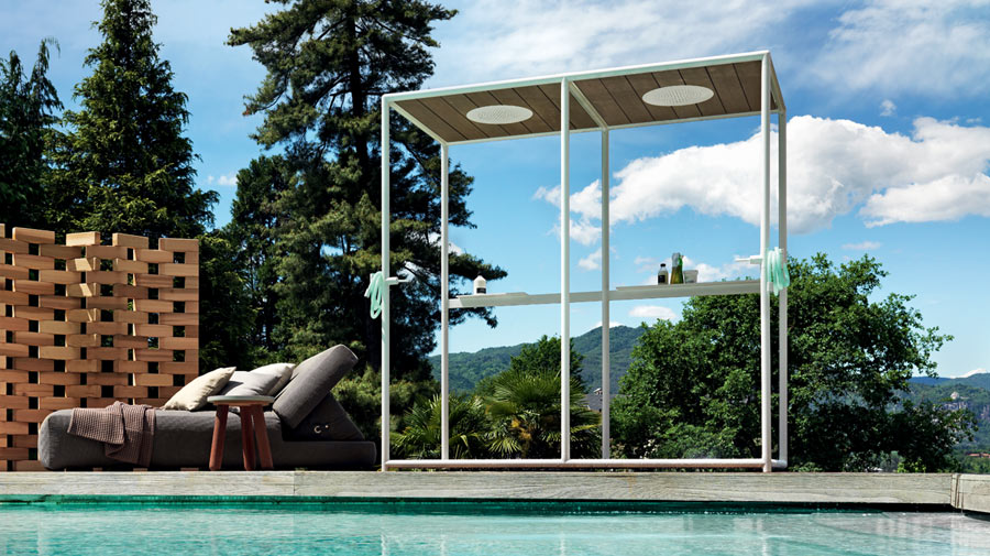 Wazebo by Kos, the outdoor shower cubicle