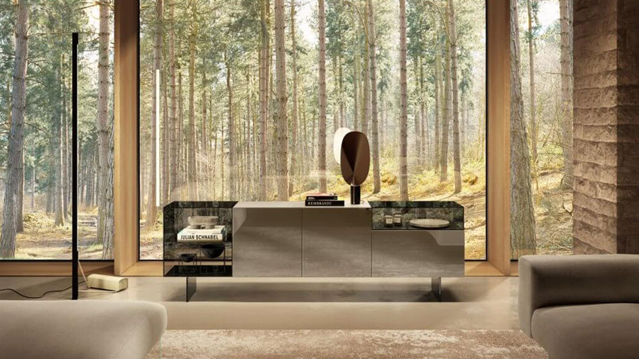 36e8 Glass by LAGO: the sideboard gets customized