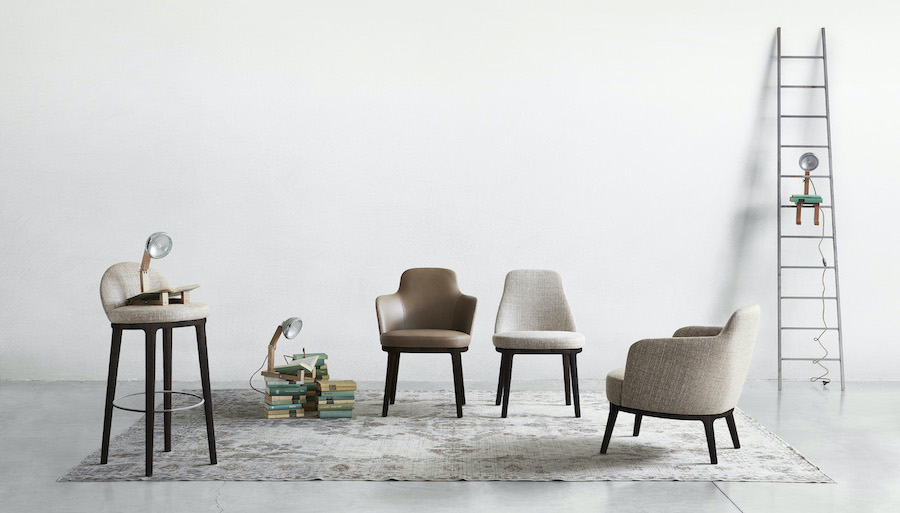 Seating Lucylle, refinement with vintage echoes