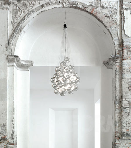 Stochastic by Luceplan, the Christmas chandelier