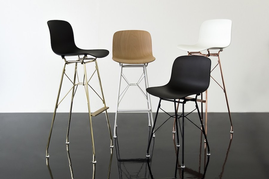 Troy by Magis, the industrial stool becomes refined