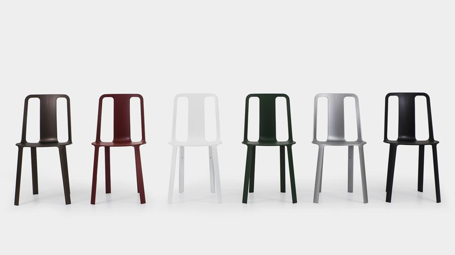 Vela by Magis, a practical chair in magnesium