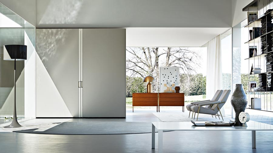 "Gliss Master by Molteni&C, the ""silk"" modular wardrobe"