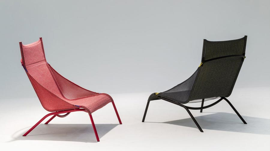 Tent by Moroso, the new all year round deckchair, sustainable and chic