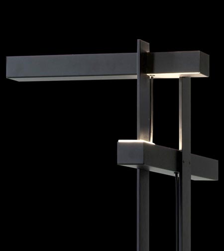 "Las by Oluce, the ""architectural"" floor lamp"