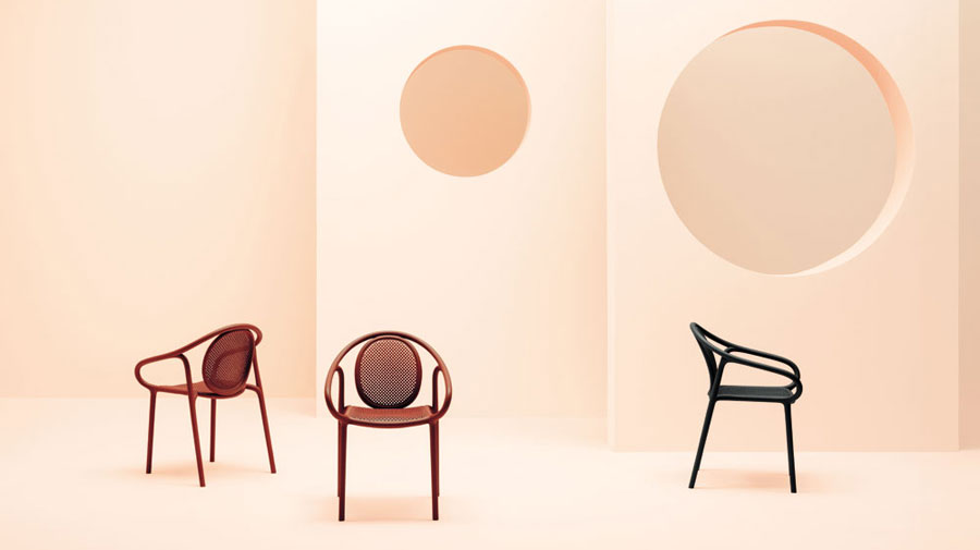 Remind by Pedrali, the nostalgic cutting-edge armchair
