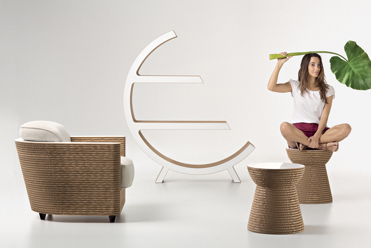 Staygreen, poltrona Wendy e sgabello Cork