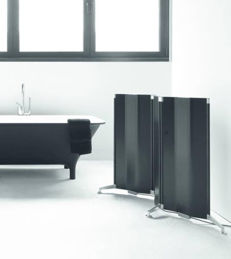 Origami by Tubes, the radiator folded like a sheet of paper