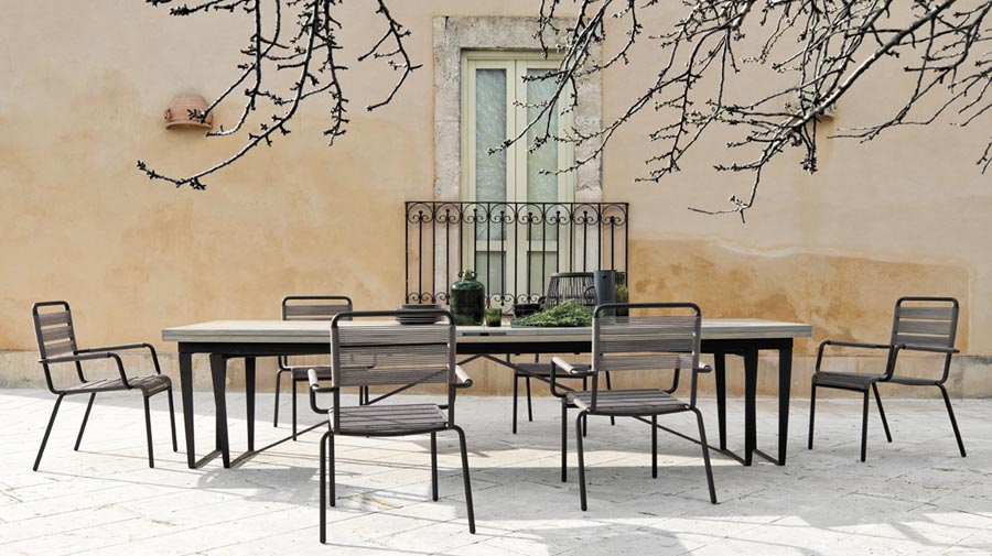 "Durban by Unopiù, ""exaggerated conviviality"" at this maxi table"