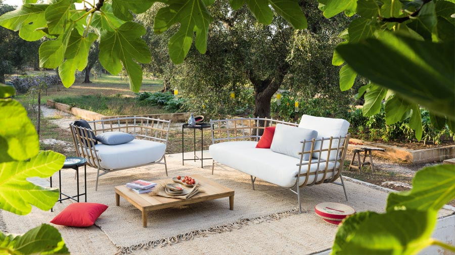 Unopiù Tweed, the year-round outdoor living room