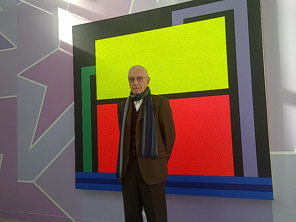 Exhibition by Peter Halley. Alessandro Mendini for Galerie Xippas, Paris (FIAC, Paris 2013)