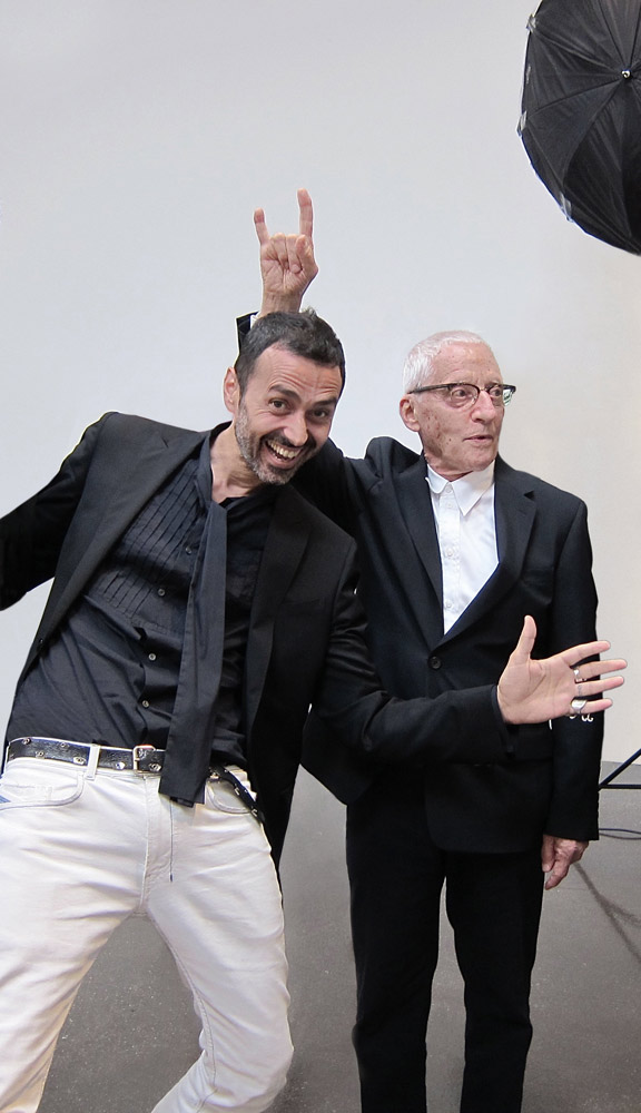 Con Alessandro Mendini. (photocredit: Nally Bellati)