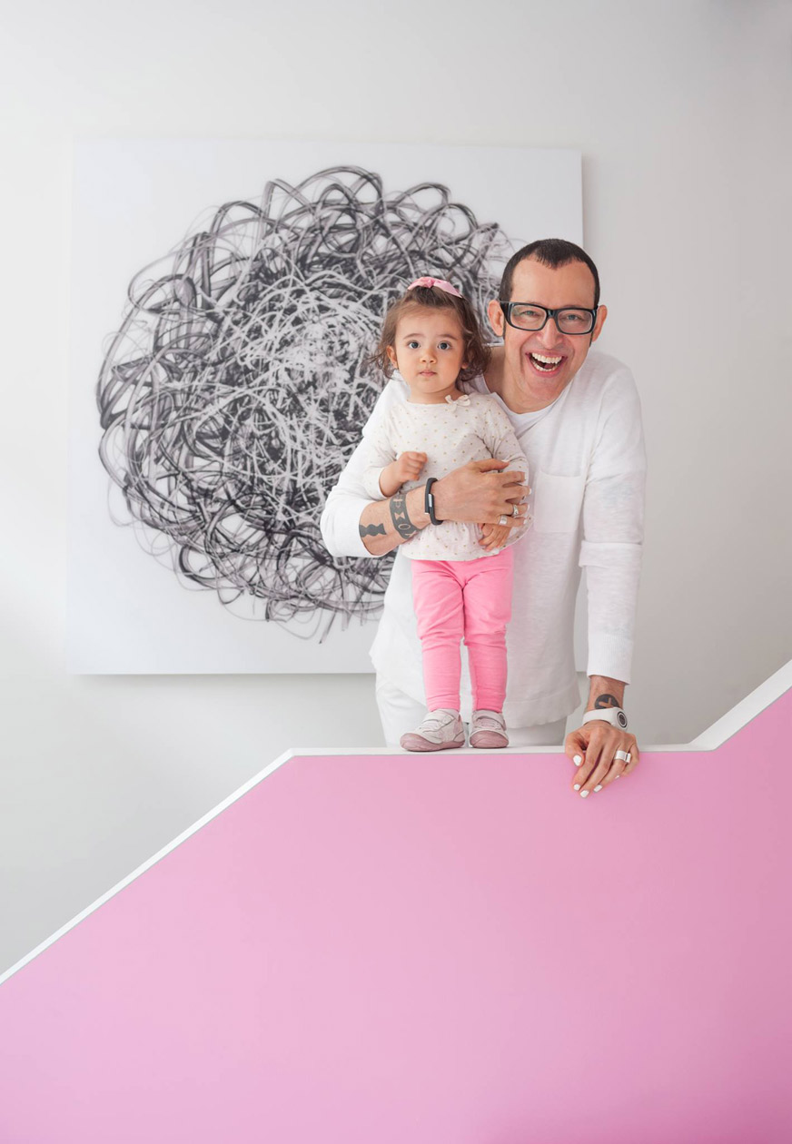 Karim and his daughter