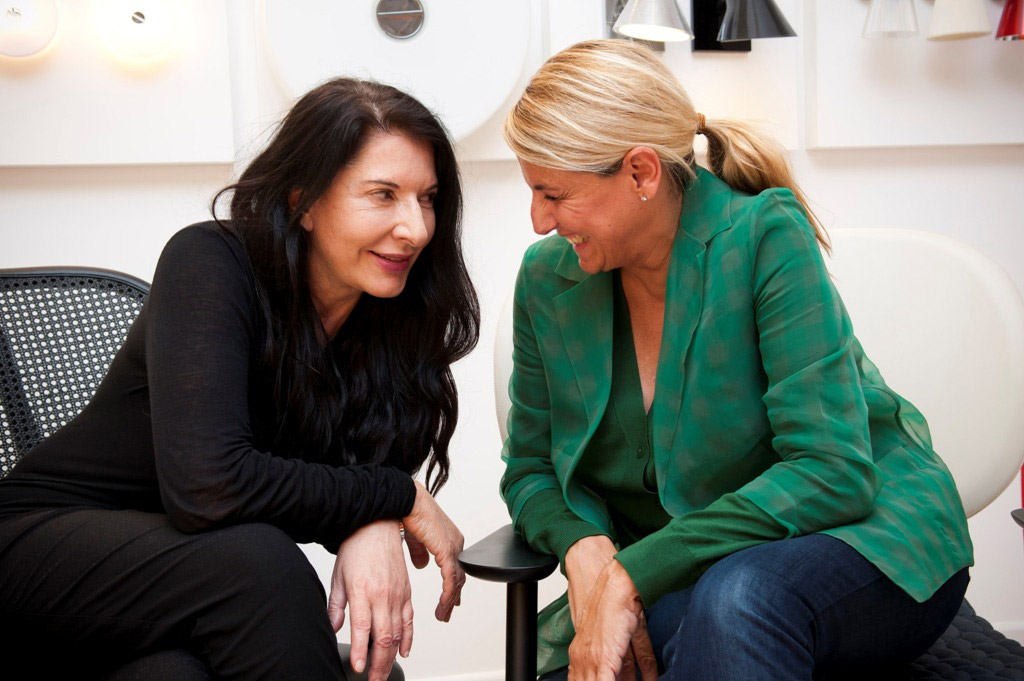 Patricia with Marina Abramovic at Galleria Illy, September 2011.