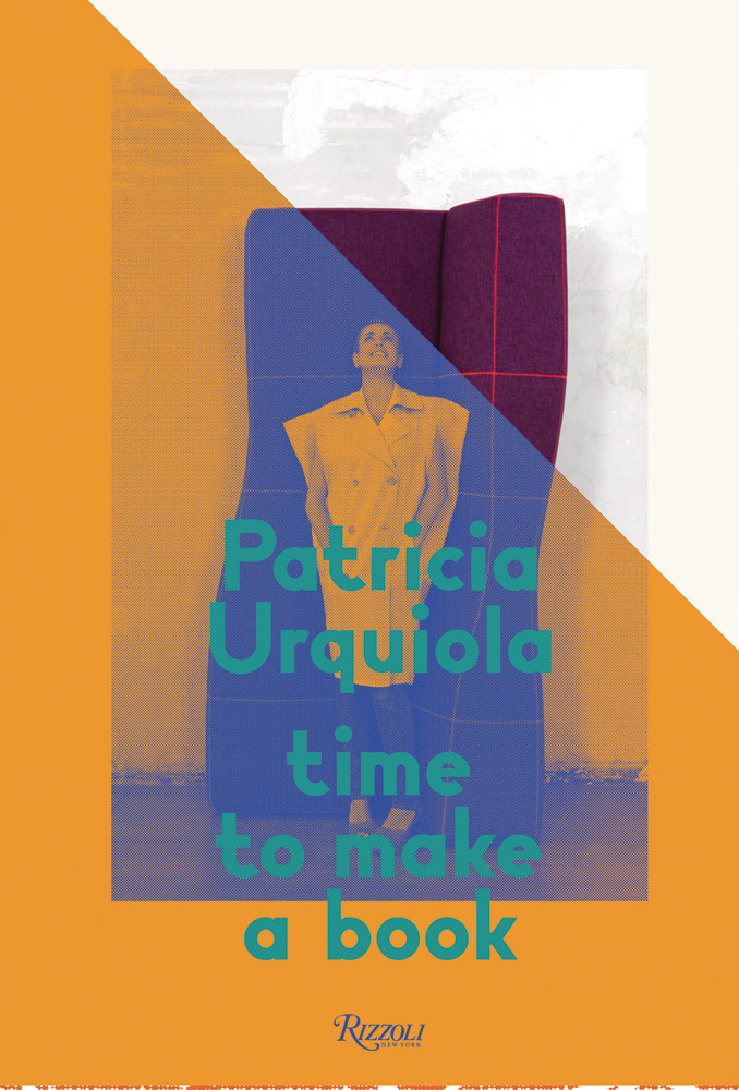 "Front cover of Patricia's first monograph ""Time to make a book"" ph. By Toni Thorimbert."