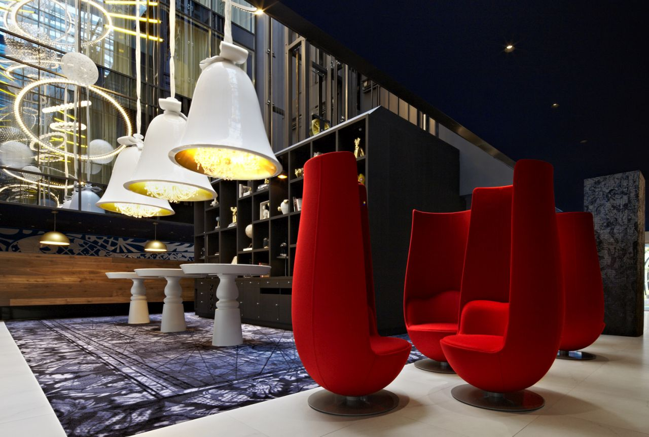 Entrance lobby of the Andaz hotel