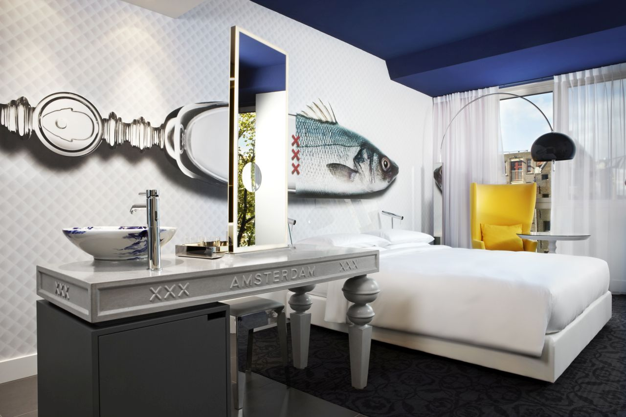 A bedroom of the Andaz hotel