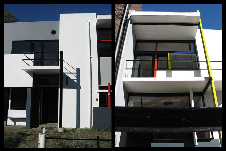 Schröder House: straight lines and orthogonal planes.