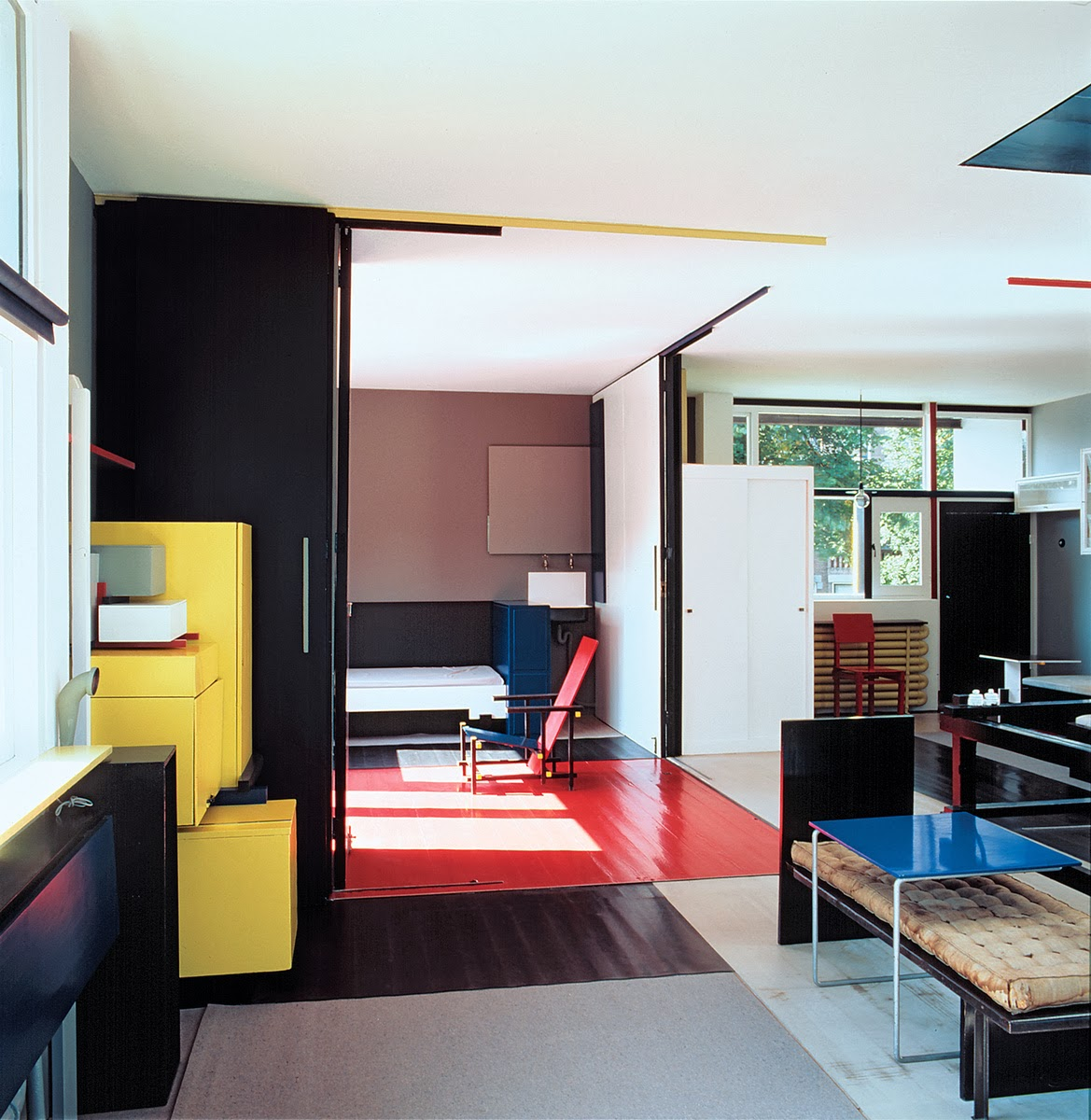Schroeder house in utrecht for Epaisseur mur interieur