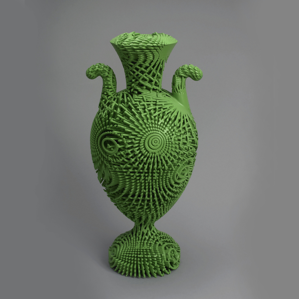 Tall Green Bloom Urn (3D printing), 2012, Michael Eden