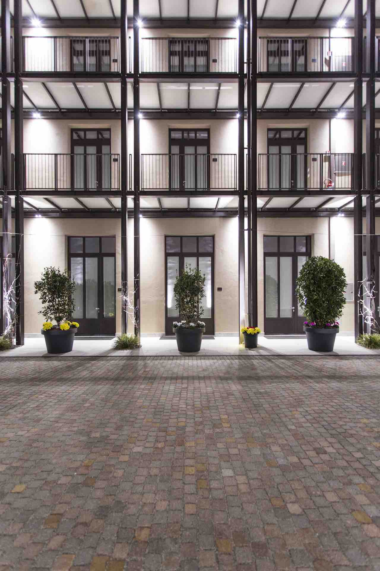 Savona 18 Suites in Milan. The hotel's most exclusive suites overlook an internal courtyard