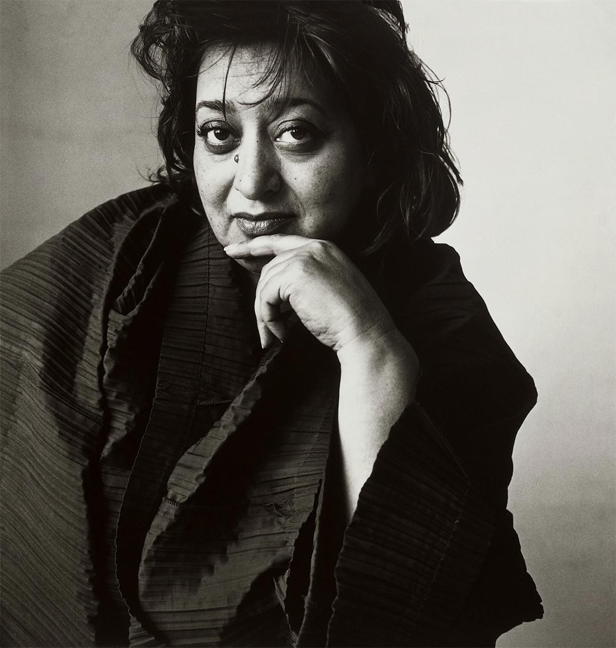 The architect and designer Zaha Hadid's portrait (1950-2016).