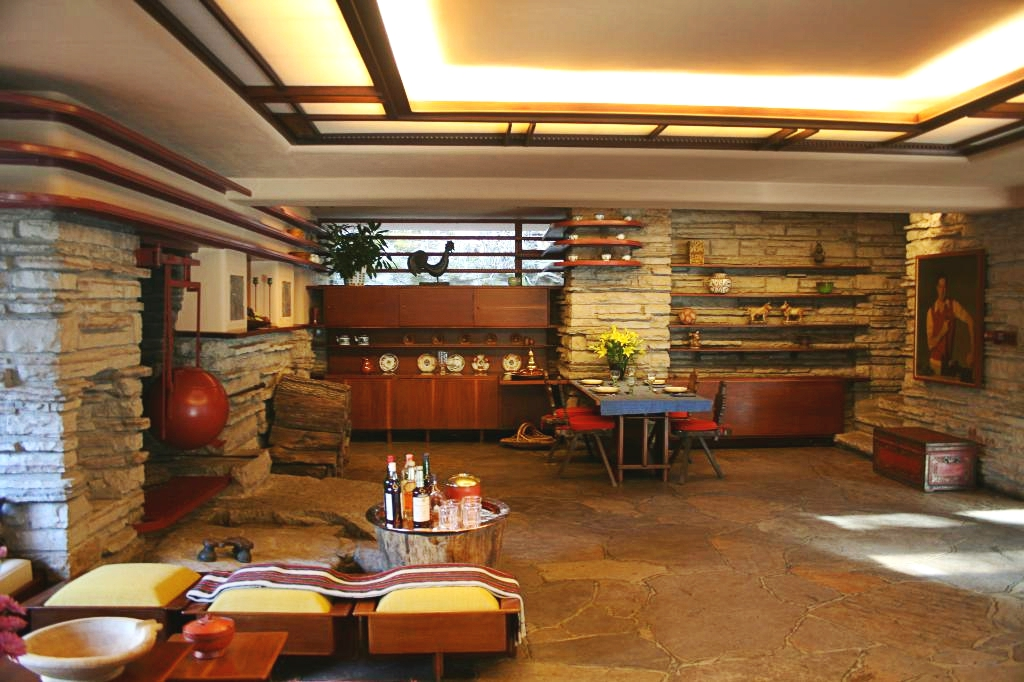 fallingwater living dining