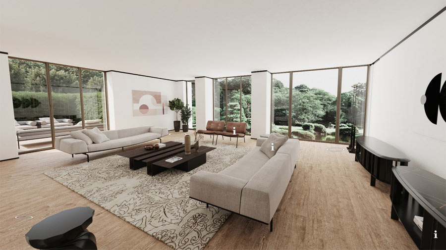 The new (virtual) dream home from Living Divani