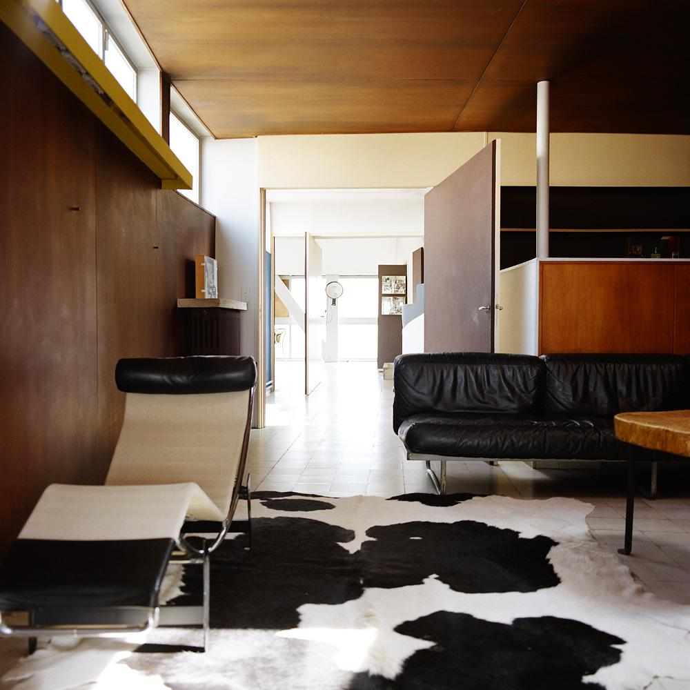 Le Corbusier's apartment - design studio: the living room