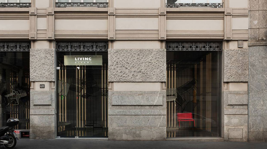 Living Divani's new gallery in Milan