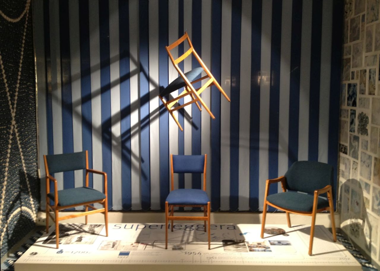 The museum inside the hotel: the legendary 699 chair by Gio Ponti, best known as Superleggera