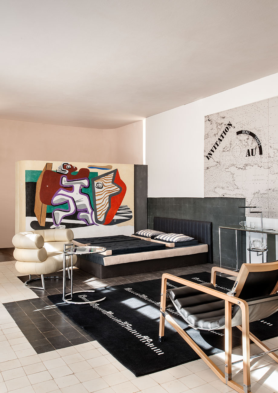 Classicon furniture, Aram and a fresco by Le Corbusier.