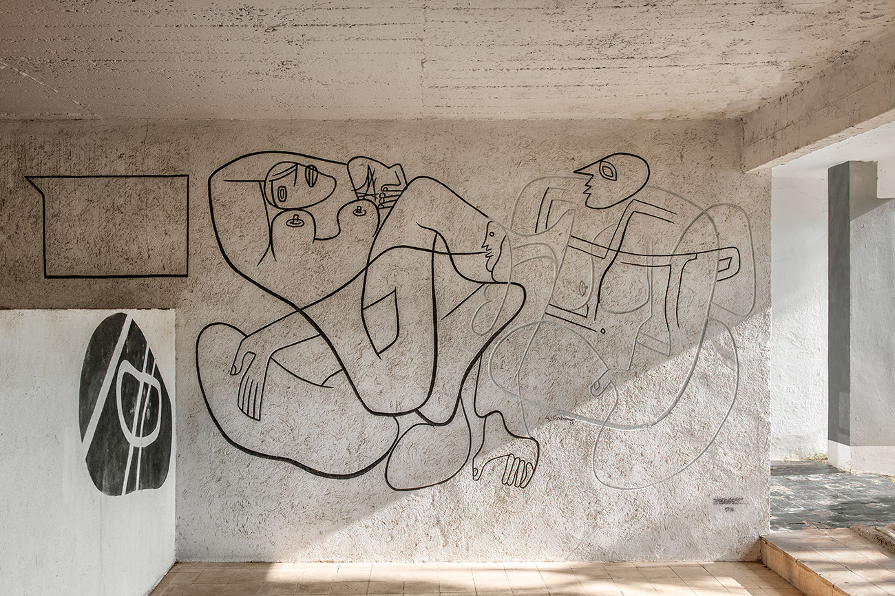 A fresco by Le Corbusier