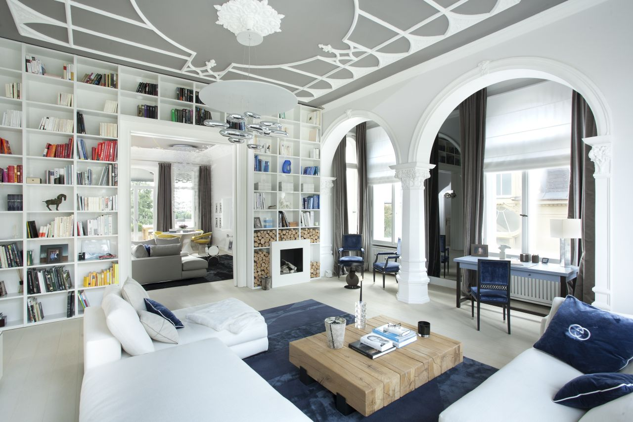 Historic beauty and modern freshness in a period apartment in Wiesbaden