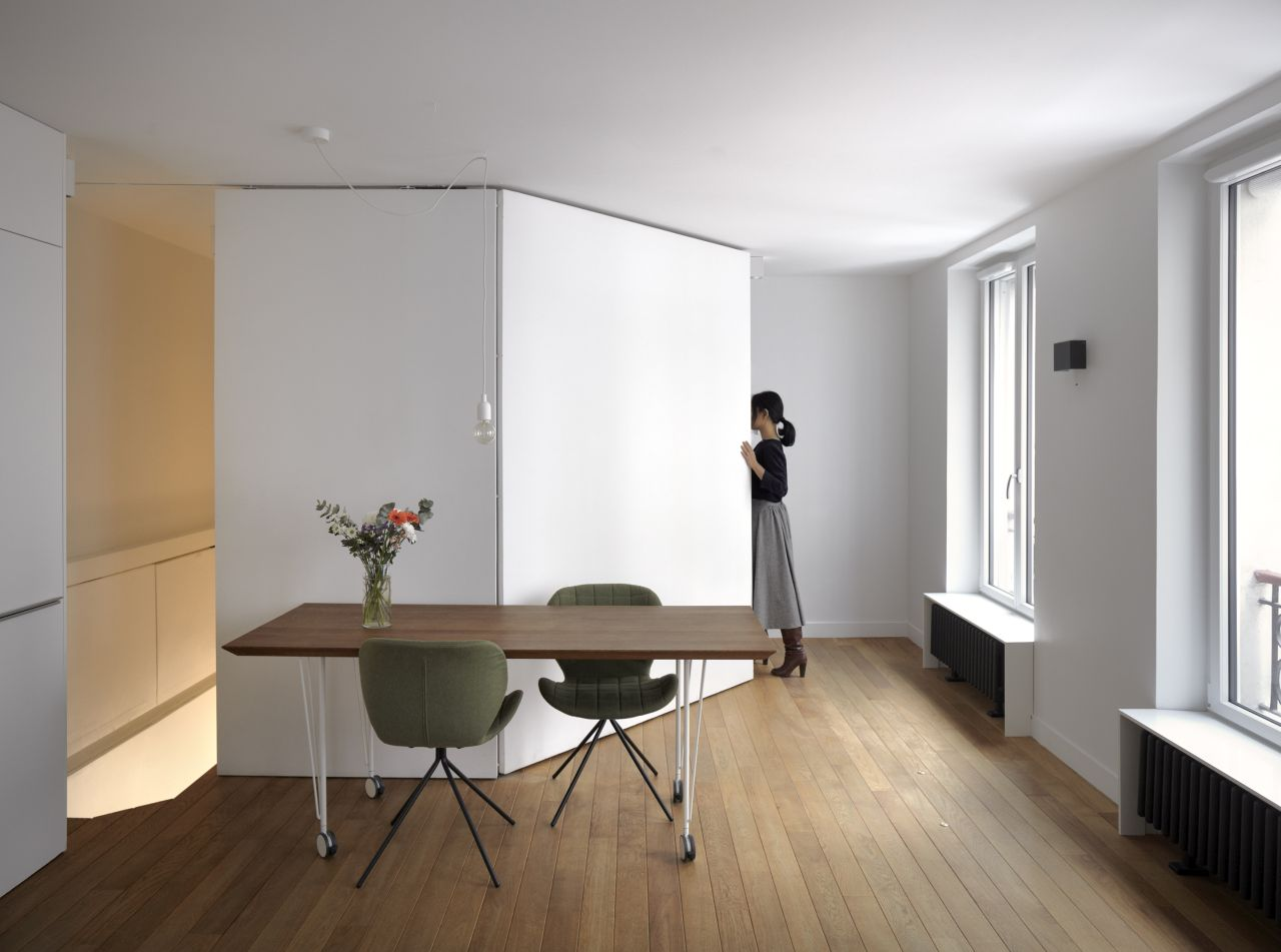 31 sqm for 3 people: a multifunctional studio apartment