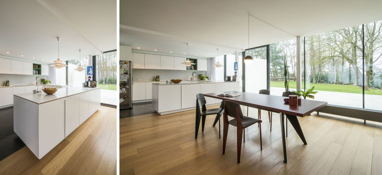 Kitchen in corian. table EM by Vitra