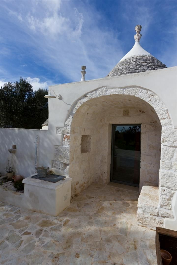 The entrance of a bedroom trulli